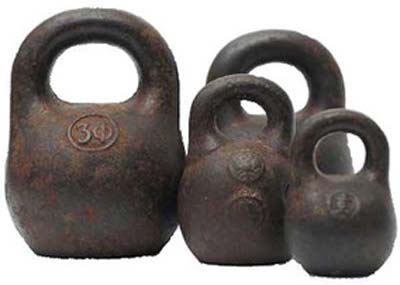 Old school kettlebells